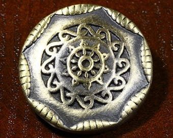 support snap round rosette ethnic embossed 20mm