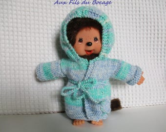 Clothes for Kiki 20 cm, blue and green robe
