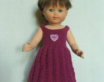 Doll dress combines, fashions and work, doll 40 cm.