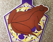 Wizard's Chocolate Frog magnetic bookmark