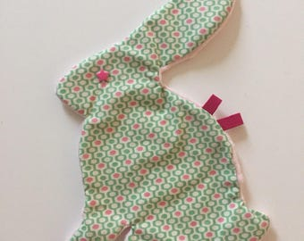Bunny shaped baby blanket