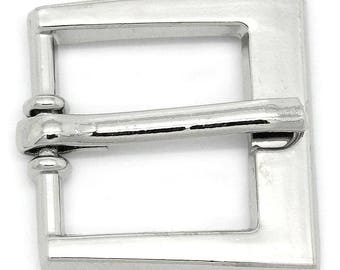 2 13x15mm silver belt buckles: sea 0168