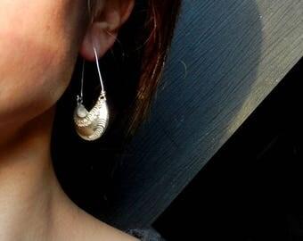 Earrings Silver flower basket fine 99.9%