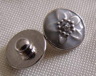 snap 12mm silver gray metal