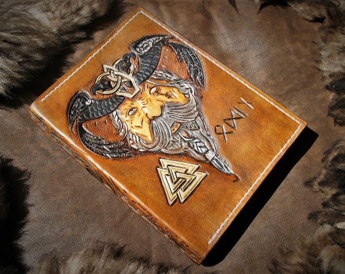 Back to school student 2017 2018 character tooled leather book cover diary cover valhalla odin viking Warrior