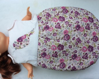 Dolls clothes in Liberty purple Bliss doll 36 cm