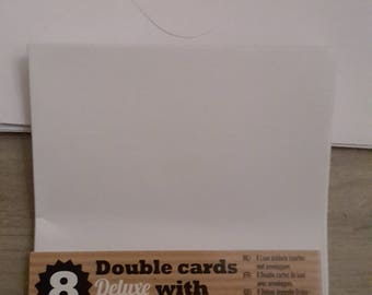 Double, cards and envelopes