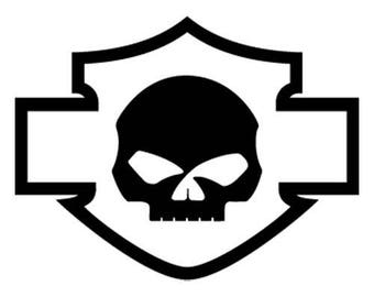 HD skull logo decal