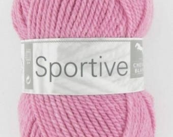Wool knitting sports hydrangea No. 300 white horse