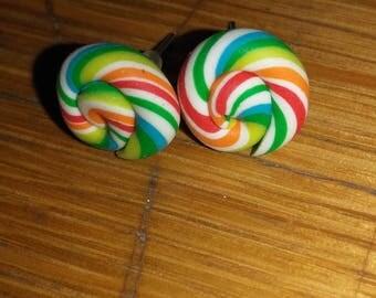 lolipop chip earring