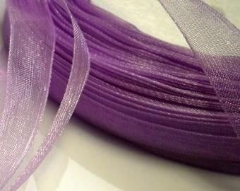 10 m 10 mm purple organza Ribbon