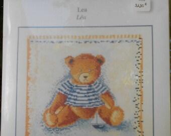 "DMC ""Teddy bear LEA"" counted cross stitch"