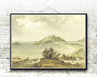 San Sebastian Spain 1854 Fine Art Print