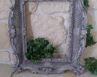 large baroque frame, weathered old