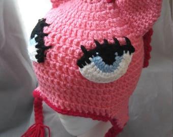 Crochet my little pony inspired hat. Child size.