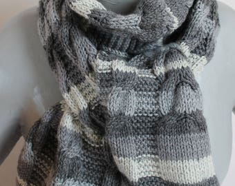 shades of gray cable and MOSS man scarf