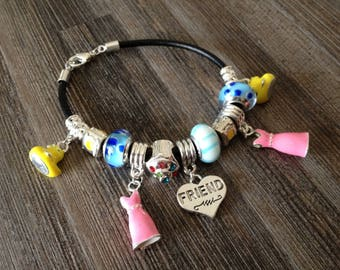 """""""charms"""" charms and Beads Bracelet glass"""