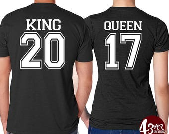 King/ Queen, couple shirts / married / king queen couples / honeymoon shirts / hubby wifey /husband and wife shirts /gift ideas /valentines
