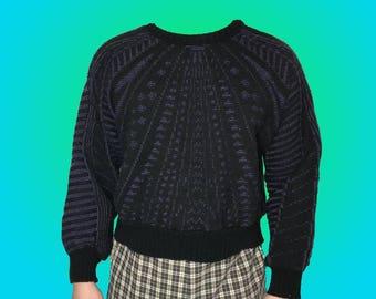 Vintage 80's geometric pattern knit sweater