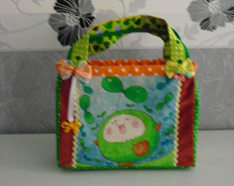 "Pouch style tote bag ""Little hedgehog"""