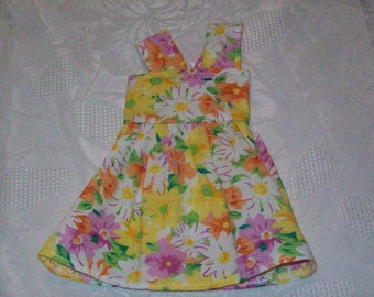 cotton print dress, for 32 33 cm dolls, compatible with the girls