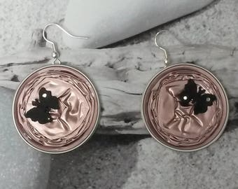 Multi upcycled butterfly earrings