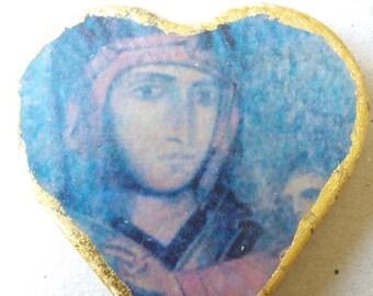 Ceramic heart.  Madonna di San Luca