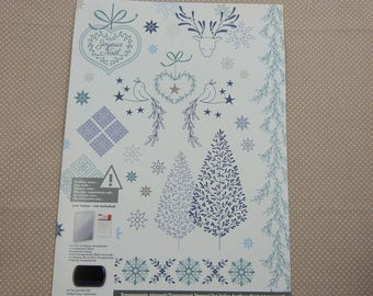 Set of stamps to mount transparent Christmas patterns