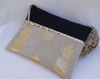 "Hand bag / large wallet plate collection""pineapple"""