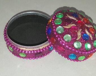 rhinestone gift box and metal tooth box, jewelry box, gift box, box ring