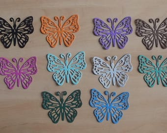 10 cuts butterflies for your scrapbooking creations.