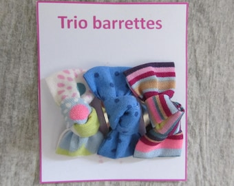 Set of 3 clips clip bows