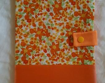 "Health book ""orange floral"""