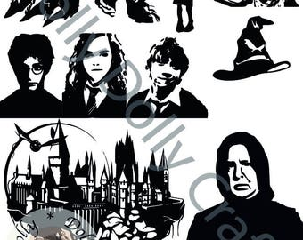 Harry Potter, Hermione, Ron, Dobby, Snape, Hogwarts, Dementor, Sorting Hat SVG,EPS,DXF,Png