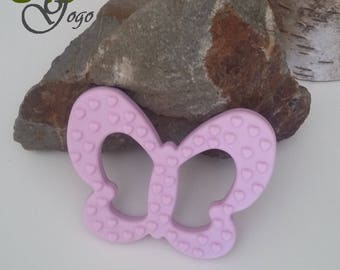 Large Purple Butterfly silicone teething ring.