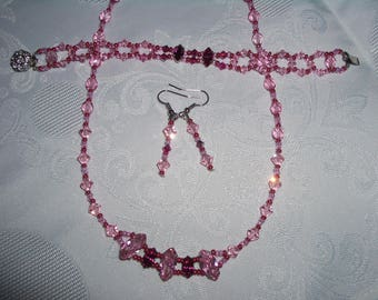 necklace made with Swarovski pearls