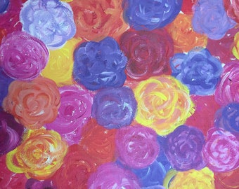 Original abstract peonies