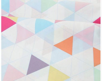 1 x 50x235cm sewing geometry triangle patchwork cotton fabric coupon