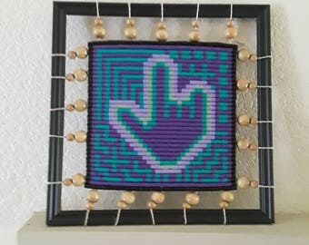 beadwork pattern home decor