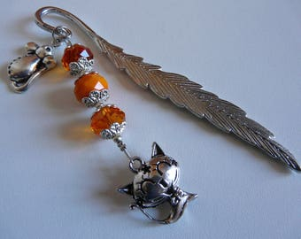 Bookmark beads - Cat and the mouse # 2