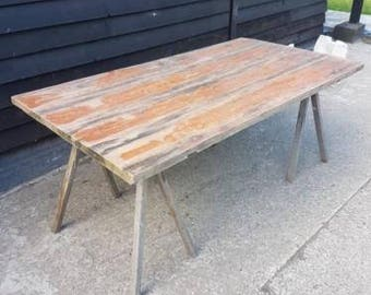Old industrial table