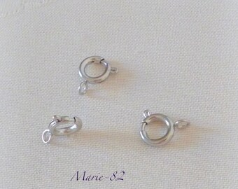 8 mm - stainless steel spring ring clasps