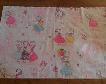 Kids fabric / fabric patterns girls / 80 X 50 cm