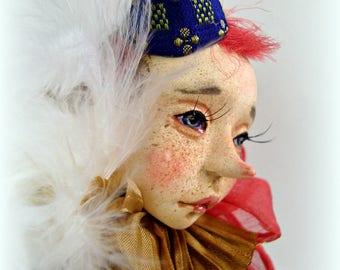 sold. Collectible doll Fox, art doll, rag doll, OOAK art doll artist