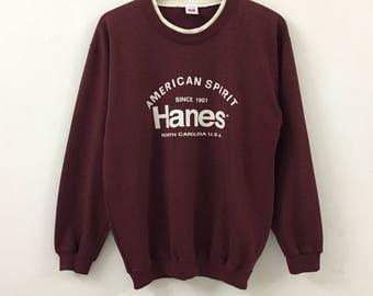 Vintage HANES American Spirit Spellout Sweatshirt North Carolina
