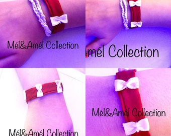 Bracelet with bow tie fabric
