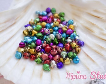 50 super mini metal bells brilliant 0.50 cm mix color