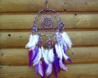 Dream catcher complex / purple tones / actual 70 cm