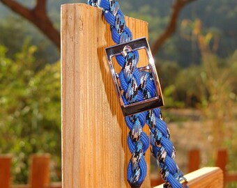 Blue 40cm adjustable dog collar