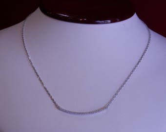 Handmade OOAK Diamond Bar Necklace